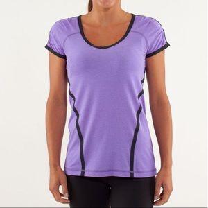 Lululemon Run Team Spirit Tech Short Sleeve Purple